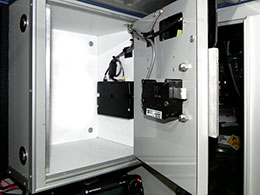 CompX eLock 300 Series installed on a cabinet in an EMS vehicle