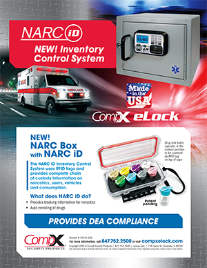 Download the eLock NARC iD inventory control system sheet - Featuring CompX eLock, an access control device with audit trail for EMS vehicles