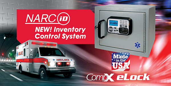 NEW! CompX NARC iD Inventory Control System - Featuring CompX eLock, an access control device with audit trail for EMS vehicles